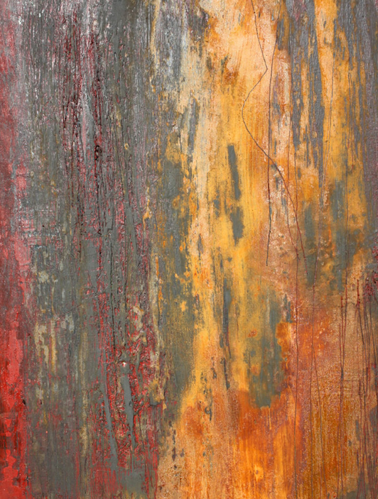 Willie Little Abstract - Red Rust Excavation detail