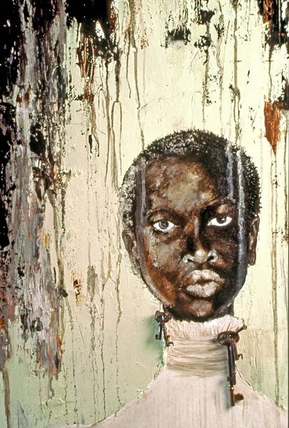 Black Portrait Art by Willie Little - Depicting the Black Woman as an important piece of American Culture.