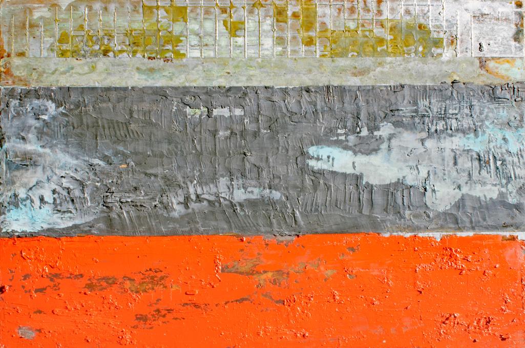Willie Little Abstract - Silver Orange Fog