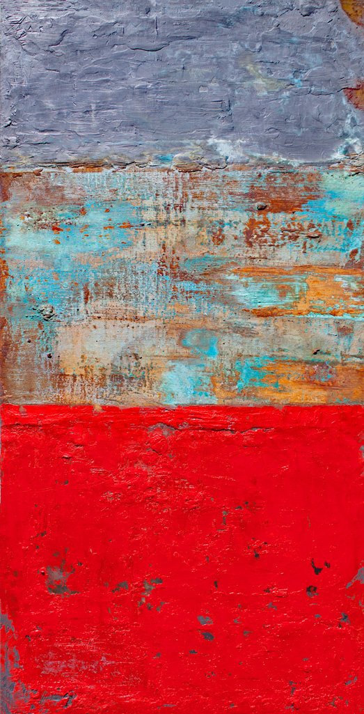 Willie Little Abstract - Red Tweed
