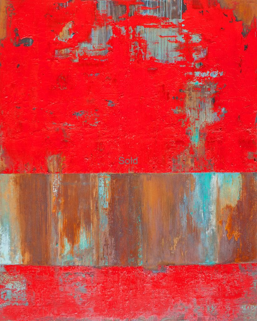 Willie Little Abstract - Red Cliff