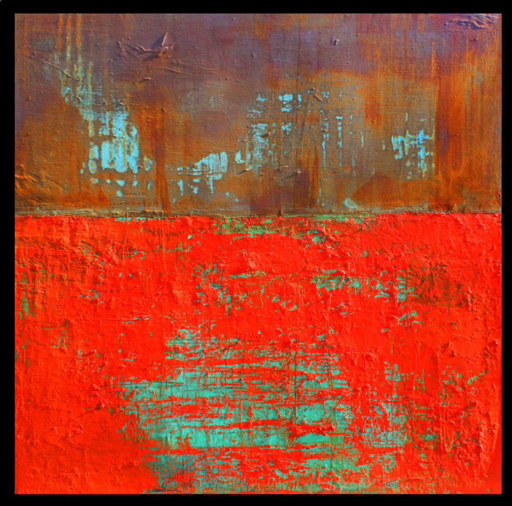 Willie Little Abstract - Tangerine Crossing