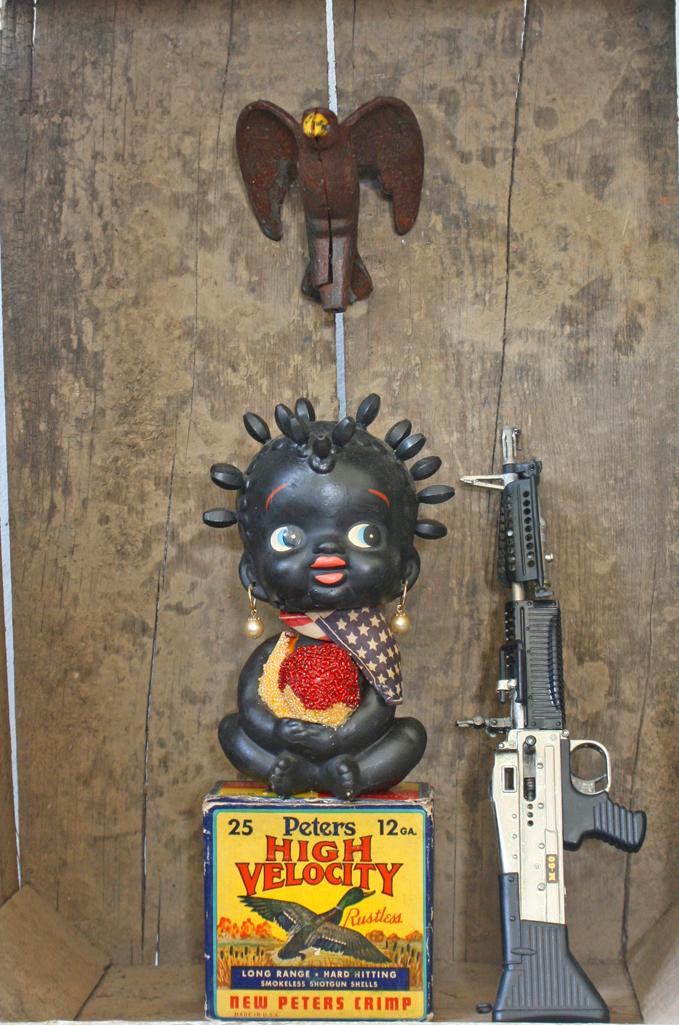 Wille Little - Nodder Dolls - Official NRA Target (detail)
